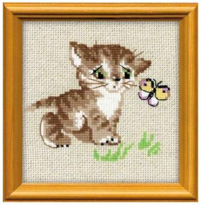 Набор для вышивания Сотвори Сама Котенок с бабочкой от 7 лет 1049 набор для вышивания сотвори сама котёнок гав 462