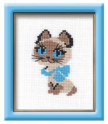 Набор для вышивания Сотвори Сама Котёнок Гав от 7 лет 462 набор для вышивания сотвори сама бантик от 7 лет