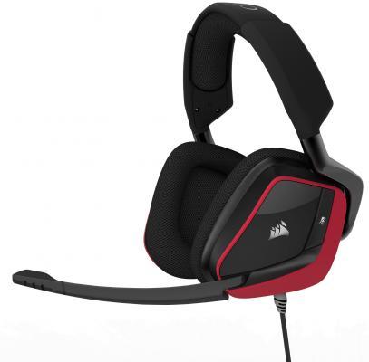Игровая гарнитура проводная Corsair Gaming Gaming VOID PRO Surround черный красный CA-9011157-EU игровая мышь trust ziva gaming mouse