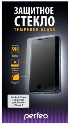 Защитное стекло Perfeo Full Screen Gorilla 78 для iPhone 7 0.33 мм PF-TG-FG-IPH7W защитное стекло perfeo для iphone 8 plus 0 33мм 2 5d full screen gorilla белый pf 5328