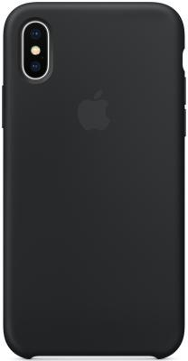 Накладка Apple Silicone Case для iPhone X чёрный MQT12ZM/A чехол для iphone apple iphone x silicone case black mqt12zm a