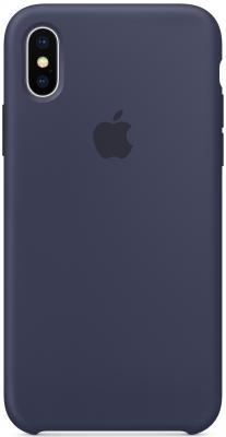все цены на Накладка Apple Silicone Case для iPhone X темно-синий MQT32ZM/A онлайн