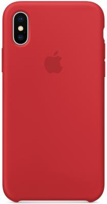 Накладка Apple Silicone Case для iPhone X красный MQT52ZM/A protective pvc back case for htc one x s720e deep pink
