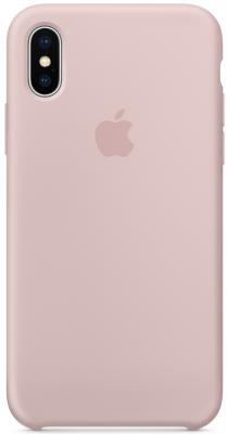 Накладка Apple Silicone Case для iPhone X розовый песок MQT62ZM/A чехлы для телефонов nillkin накладка для apple iphone x