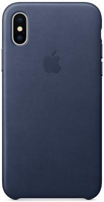 Накладка Apple Leather Case для iPhone X темно-синий MQTC2ZM/A original view window flip pu leather case cover for uhappy up920