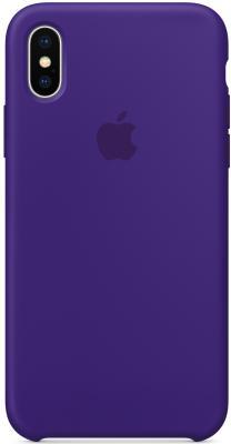 Накладка Apple Silicone Case для iPhone X ультрафиолет MQT72ZM/A накладка apple silicone case для iphone 7 синий mmwk2zm a