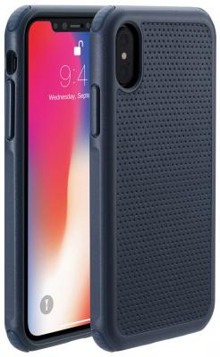 Накладка Just Mobile Quattro Air для iPhone X синий PC-388BL накладка just mobile tenc для iphone 6 6s plus прозрачный pc 169cc