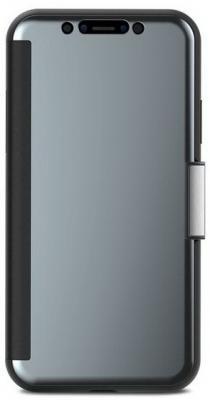 Чехол-кошелек Moshi StealthCover для iPhone X серый цена и фото