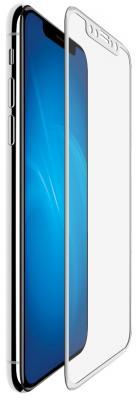 Защитное стекло прозрачная DF 3D iColor-13 для iPhone X 0.33 мм белая рамка