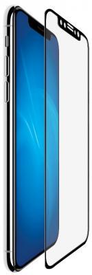 Защитное стекло прозрачная DF iColor-14 для iPhone X 0.33 мм черная рамка