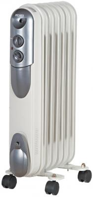 Масляный радиатор Ресанта ОМПТ-7Н 1500 Вт термостат колеса для перемещения белый