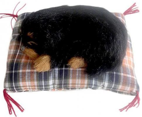 """Мягкая игрушка щенок Новогодняя сказка """"Йоркширский терьер"""" искусственный мех черный 972960"""
