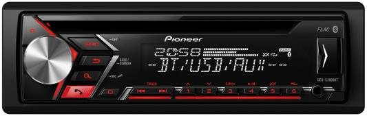 Автомагнитола Pioneer DEH-S3000BT-K USB MP3 CD FM RDS 1DIN 4x50Вт черный