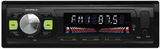 Автомагнитола Supra SFD-43U USB MP3 FM 1DIN 4x40Вт черный usb автомагнитола supra sfd 40u