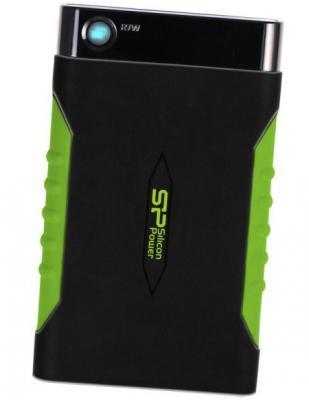 """Внешний жесткий диск 2.5"""" USB3.0 2 Tb Silicon Power A15 Armor SP020TBPHDA15S3K черный/зеленый"""