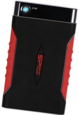 """Внешний жесткий диск 2.5"""" USB3.0 2 Tb Silicon Power A15 Armor SP020TBPHDA15S3L черный/красный"""
