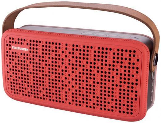 Портативная акустика Telefunken TF-PS1230B красный/коричневый