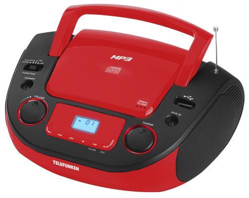 Магнитола Telefunken TF-CSRP3481 черный/красный