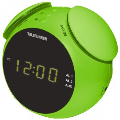 Часы с радиоприёмником Telefunken TF-1570 зелёный
