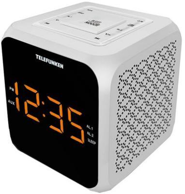 Часы с радиоприёмником Telefunken TF-1571 белый чёрный