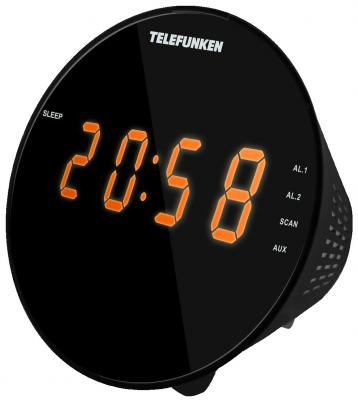 Часы с радиоприёмником Telefunken TF-1572 чёрный цена в Москве и Питере