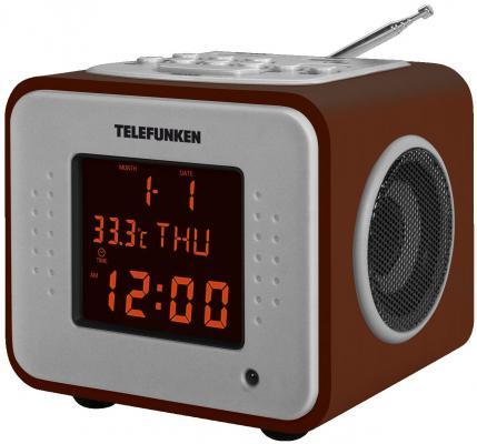 лучшая цена Часы с радиоприёмником Telefunken TF-1575U темное дерево