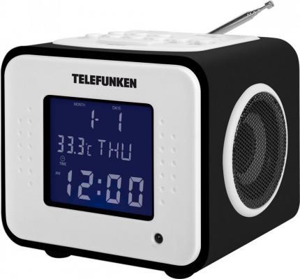 лучшая цена Часы с радиоприёмником Telefunken TF-1575(U) черное дерево