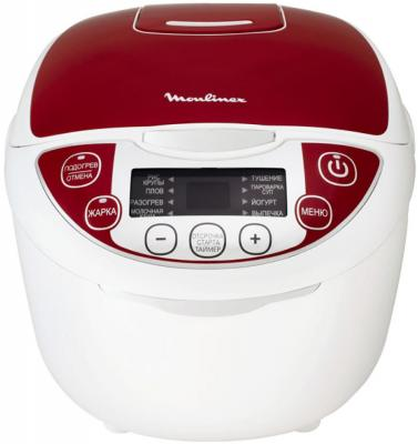 Мультиварка Moulinex MK705132 белый красный 1200 Вт 4.5 л соковыжималка moulinex ju655h30 1200 вт серебристый