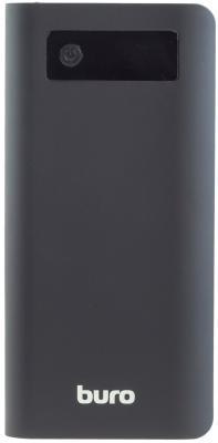 Портативное зарядное устройство Buro RB-20000-LCD-QC3.0-I&O 20000мАч черный серый портативное зарядное устройство buro rc 7500a b 7500мач черный