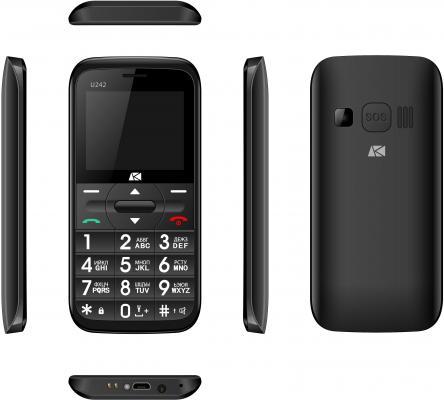 Мобильный телефон ARK Benefit U242 черный мобильный телефон ark benefit v1 серый 2 4 64 мб