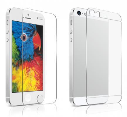 Защитное стекло прозрачная DF Закаленное стекло и защитная пленка для iPhone 5S iPhone 5 0.33 мм 2шт DFiSet-02