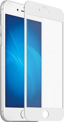 Защитное стекло DF iColor-16 с белой рамкой для iPhone 8 Plus iPhone 7 Plus 0.33 мм