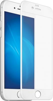Защитное стекло 3D DF iColor-12 для iPhone 7 Plus iPhone 8 Plus с цветной рамкой (white)