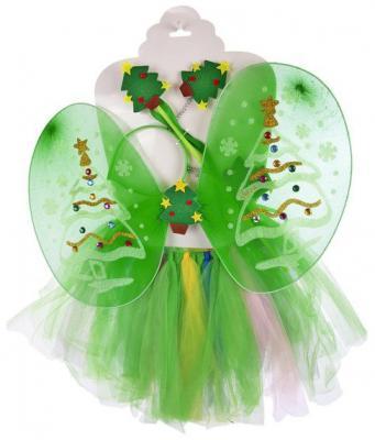 Карнавальный костюм Новогодняя сказка Елочки от 3 лет 972574 (крылья, юбочка, ободок и волшебная палочка) футболка волшебная палочка 3 12 лет