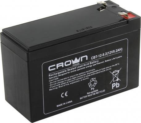 Фото - Батарея Crown CBT-12-9.2 9.2Ач 12B батарея delta hr 12 5 5ач 12b