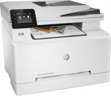 МФУ HP Color LaserJet Pro MFP M281fdw T6B82A цветное A4 21ppm 600x600dpi Ethernet Wi-Fi USB мфу hp color laserjet pro m281fdw