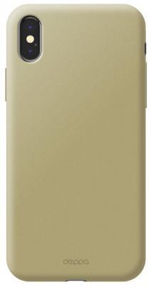 Накладка Deppa Air Case для iPhone X золотой 83322 protective pvc back case for htc one x s720e deep pink