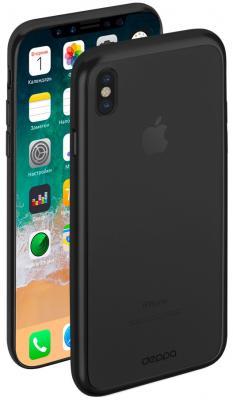 Накладка Deppa Gel Plus Case для iPhone X чёрный 85336 чехол аккумулятор deppa nrg case 2600 mah для iphone 7 белый 33520