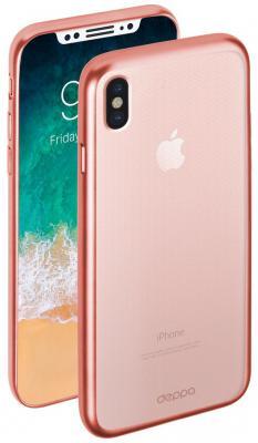Накладка Deppa Gel Plus Case для iPhone X розовое золото 85338 mesh style protective back case for htc one x s720e deep pink