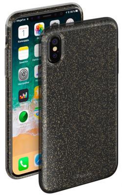 Накладка Deppa Chic Case для iPhone X чёрный 85339 protective pvc back case for htc one x s720e deep pink