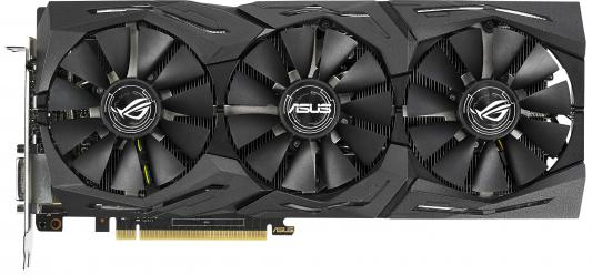 Видеокарта 8192Mb ASUS GeForce GTX1070Ti ROG PCI-E 256bit GDDR5X DVI HDMI DP ROG-STRIX-GTX1070TI-A8G-GAMING Retail видеокарта 8192mb msi geforce gtx 1080 gaming x 8g pci e 256bit gddr5x dvi hdmi dp retail