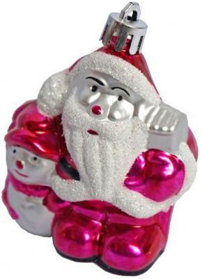 Елочные украшения Новогодняя сказка Дед Мороз розовый 8 см 3 шт пластик 972310 елочные украшения ewa eco wood art набор елочных игрушек комплект