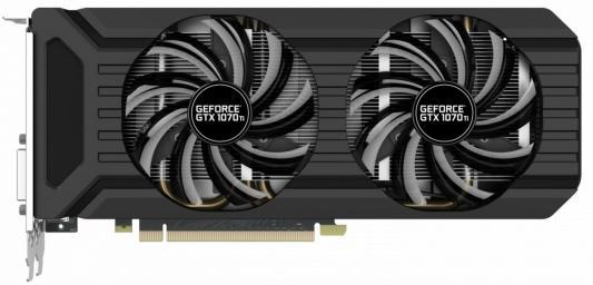 Видеокарта 8192Mb Palit GeForce GTX1070Ti Dual PCI-E 256bit GDDR5 DVI HDMI DP NE5107T015P2-1043D Retail видеокарта palit geforce gtx 1070 ti 1607mhz pci e 3 0 8192mb 8000mhz 256 bit dpx3 dvi hdmi hdcp ne5107t015p2 1043d