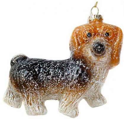Елочные украшения Новогодняя сказка Собачка коричневый 10.5 см 1 шт пластик 972508