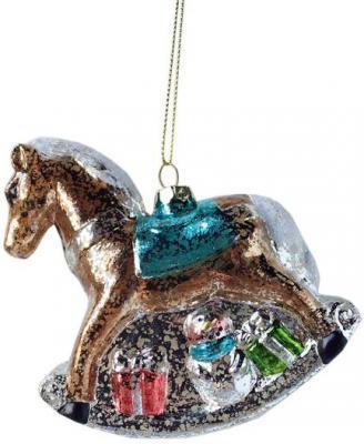 Елочные украшения Новогодняя сказка Лошадка коричневый 11 см 1 шт пластик 972877 цена и фото