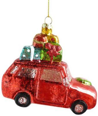 Елочные украшения Новогодняя сказка Машинка красный 11.5 см 1 шт пластик 972883 елочные украшения sia елочная игрушка