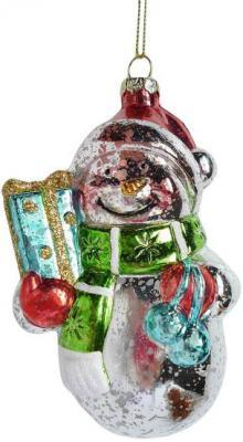 Елочные украшения Новогодняя сказка Снеговик 12 см 1 шт пластик 972875