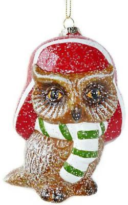 Елочные украшения Новогодняя сказка Сова разноцветный 11 см 1 шт пластик игрушка профессии моя зая ут 00019500