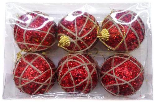 Набор шаров Новогодняя сказка 972710 красный 6 см 6 шт пенопласт набор шаров новогодняя сказка 971970 синий 6 см 6 шт стелко