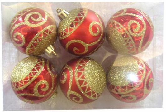 Набор шаров Новогодняя сказка 972909 красный 6 см 6 шт пластик набор шаров 6 см monte christmas набор шаров 6 см